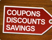 Coupons, Discounts & Savings